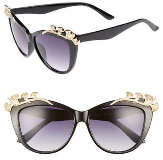 Leith 57mm Embellished Sunglasses