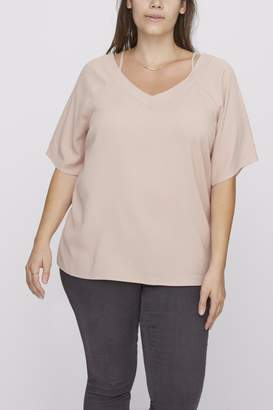 Junarose Rose Flowy Top
