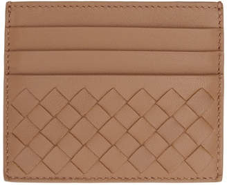 Bottega Veneta Pink Intrecciato Card Holder