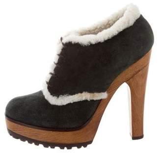 Dolce & Gabbana Shearling-Trimmed Platform Booties