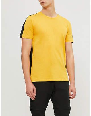 Criminal Damage Carnaby side-stripe cotton-jersey T-shirt