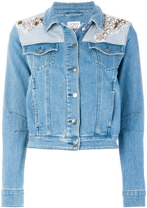 Twin-Set embellished denim jacket