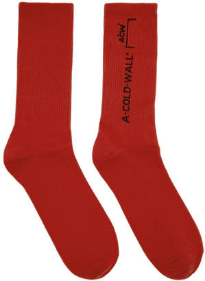 A-Cold-Wall* Red Core Design Socks
