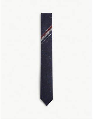Thom Browne Tricolour stripe wool-blend tie