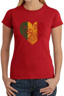 LOS ANGELES POP ART Los Angeles Pop Art Women's T-Shirt - One Love Heart