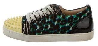 Christian Louboutin Spiked Ponyhair Sneakers