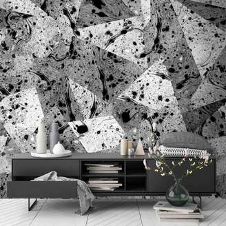 Mural Woodchip & Magnolia Metamorphic Shards Wall By Jess Howard