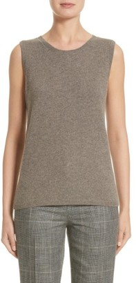 Women's Lafayette 148 New York Chain Detail Cashmere Shell $248 thestylecure.com