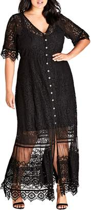 City Chic Summer Lace Maxi Dress