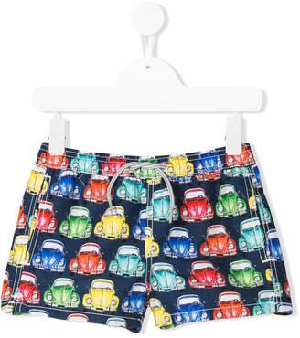 MC2 Saint Barth Kids car print swim shorts