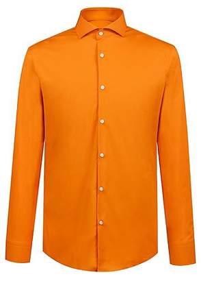 HUGO BOSS Slim-fit shirt in stretch-cotton poplin