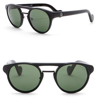 Moncler 50mm Round Aviator Sunglasses