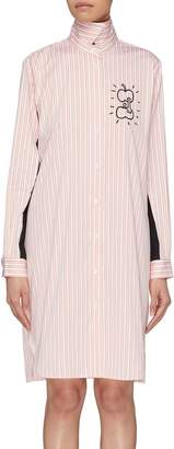 Aalto 'Grabbing Apples' graphic print stripe shirt dress