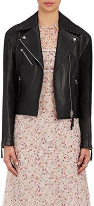 Calvin Klein Women's Belted Lambskin Moto Jacket $2,895 thestylecure.com