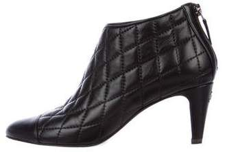 Chanel CC Leather Ankle Boots