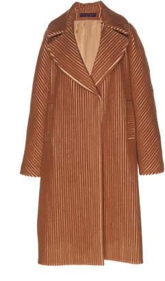 Martin Grant Wool-Blend Corduroy Cocoon Coat