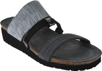 Naot Footwear Leather Triple Strap Slide Sandals - Brenda