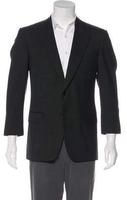 Battistoni Check Pattern Wool Blazer