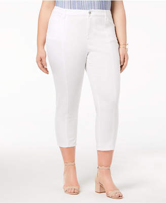 Style&Co. Style & Co Plus Size Seamed Straight Capri Jeans, Created for Macy's