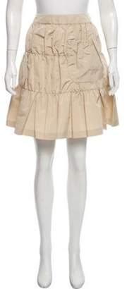 Prada A-Line Mini Skirt Beige A-Line Mini Skirt