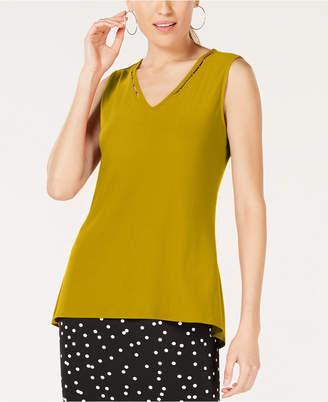 Alfani Petite Embellished V-Neck Top