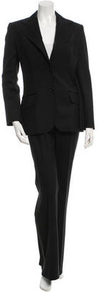 Dolce & Gabbana Satin-Trimmed Wool Pantsuit $225 thestylecure.com
