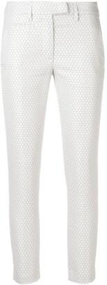 Dondup geometric print trousers