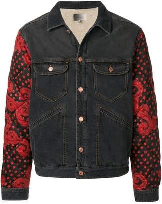 Isabel Marant quilted sleeve denim jacket
