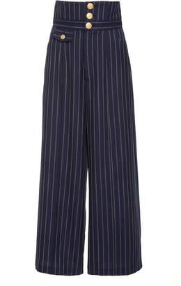 Marissa Webb Jeri High Waisted Pinstripe Pant