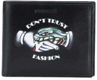 Roberto Cavalli Don't Trust Fashion wallet