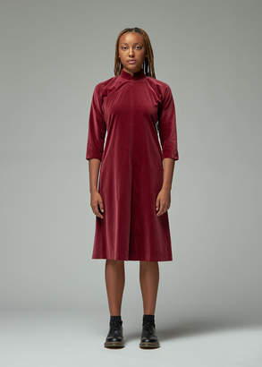 Comme des Garcons Velveteen Asymmetrical Dress