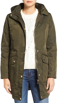 Eliza J Water Repellent Hooded Parka $300 thestylecure.com