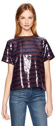 Cynthia Rowley Women's Sequin Striped Tee