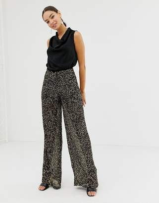 French Connection wide leg sequin pants