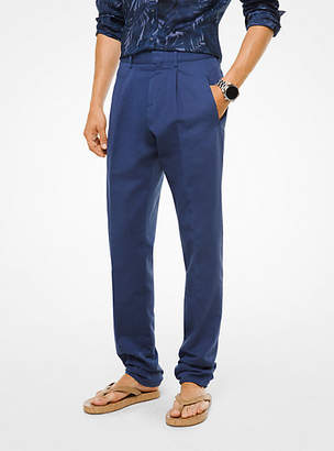 Michael Kors Cotton And Linen Trousers