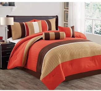 Luxlen Casares 7 Piece Comforter Set, Cal King Bedding