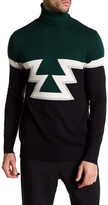 Parke & Ronen Aztec Knit Turtleneck Sweater $175 thestylecure.com