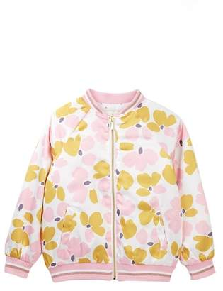 Kate Spade satin printed bomber jacket (Big Girls)