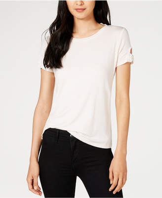 Maison Jules Striped Bow-Trimmed T-Shirt
