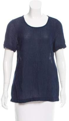 Massimo Alba Textured Short Sleeve Top w/ Tags