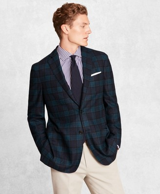 Brooks Brothers Golden Fleece BrooksCloud Wool-Blend Black Watch Sport Coat