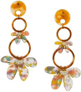 Lele Sadoughi flower hoop drop earrings