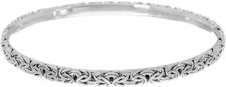 Sterling Silver Byzantine Slip-on Bangle Bracelet by Silver Style