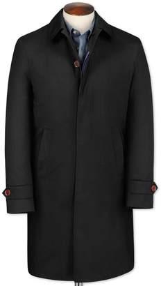 Charles Tyrwhitt Slim Fit Black RainCotton coat Size 38