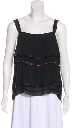Marc Jacobs Chain-Accented Silk Blouse