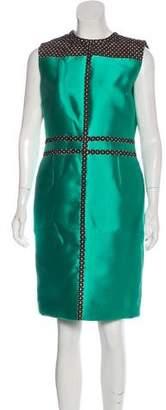 J. Mendel Silk-Blend Knee-Length Dress w/ Tags