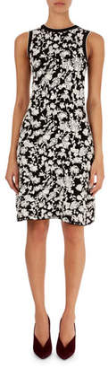 Victoria Beckham Victoria Floral-Leaf Fit-and-Flare Jacquard Dress