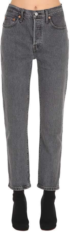 501 Crop High Waist Denim Jeans