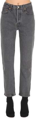 Levi's 501 Crop High Waist Denim Jeans