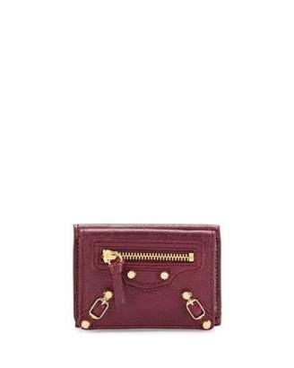 Balenciaga Classic Mini Leather Wallet $345 thestylecure.com